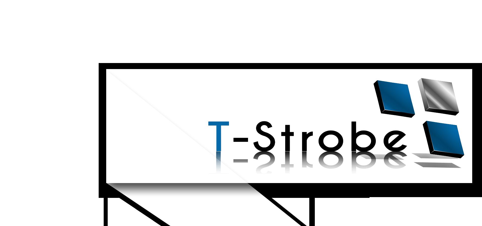 t-strobe logo - titelseite